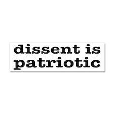 Dissent Is Patriotic Car Magnet 10 x 3