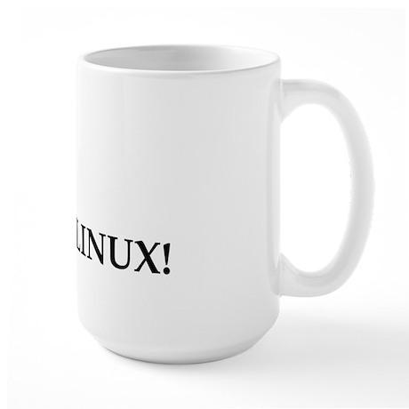 Adicted To Linux Large Mug