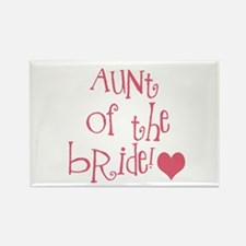 Aunt of the Bride Rectangle Magnet