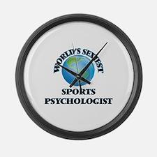 World's Sexiest Sports Psychologi Large Wall Clock