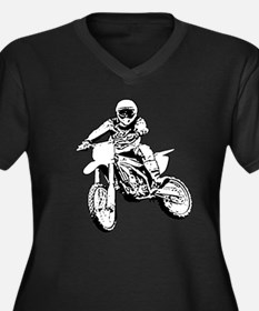 Cute Dirtbikers Women's Plus Size V-Neck Dark T-Shirt