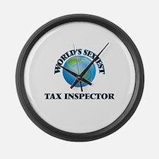 World's Sexiest Tax Inspector Large Wall Clock