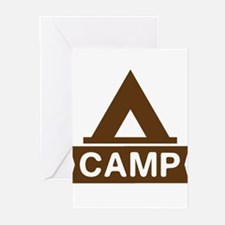 Camp tent Greeting Cards