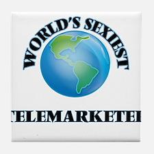 World's Sexiest Telemarketer Tile Coaster