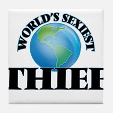 World's Sexiest Thief Tile Coaster