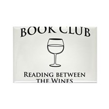 Book Club Reading Between The Wines. Magnets