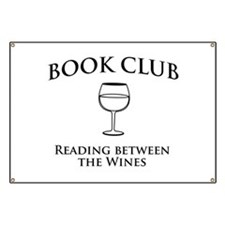 Book Club Reading Between The Wines. Banner