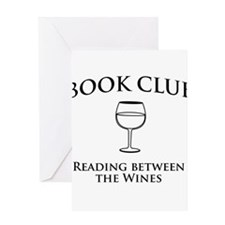 Book Club Reading Between The Wines. Greeting Card