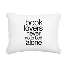 Book lovers never go to bed alone Rectangular Canv