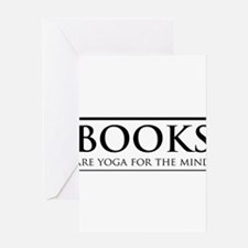 Books are yoga for the mind Greeting Cards