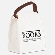 Books are yoga for the mind Canvas Lunch Bag