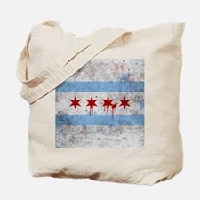 Chicago Flag Vintage Grunge Tote Bag