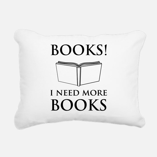 Books! I need more books. Rectangular Canvas Pillo
