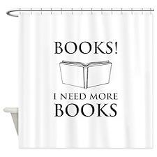 Books! I need more books. Shower Curtain
