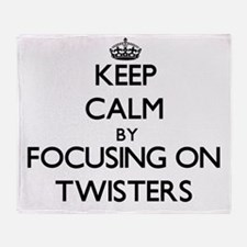 Keep Calm by focusing on Twisters Throw Blanket