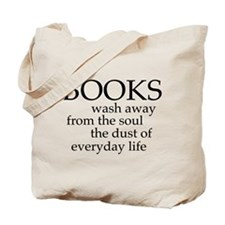 Books wash away from the should the dust of everyd