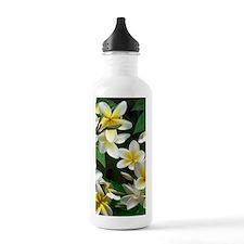 Plumeria Flowers Water Bottle