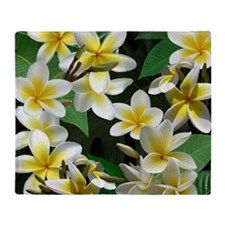 Plumeria Flowers Throw Blanket