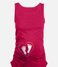 Cute Hands and feet Maternity Tank Top