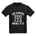Waltz Dance Designs Kids Dark T-Shirt