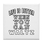 Waltz Dance Designs Tile Coaster