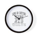 Waltz Dance Designs Wall Clock
