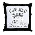 Waltz Dance Designs Throw Pillow