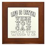 Waltz Dance Designs Framed Tile