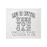 Waltz Dance Designs Throw Blanket