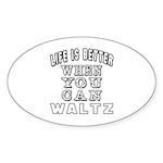 Waltz Dance Designs Sticker (Oval 10 pk)