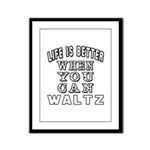 Waltz Dance Designs Framed Panel Print