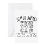 Waltz Dance Designs Greeting Cards (Pk of 20)