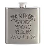 Waltz Dance Designs Flask