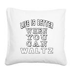 Waltz Dance Designs Square Canvas Pillow