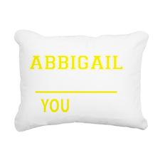 Cute Abbigail Rectangular Canvas Pillow
