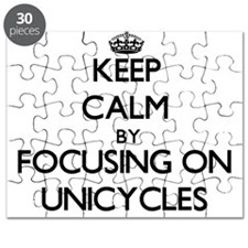 Keep Calm by focusing on Unicycles Puzzle