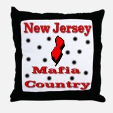 New Jersey Mafia Country Throw Pillow