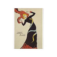 Jane Avril, Dancer, Vintage Art 5'x7'area Rug