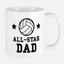 All Star Volleyball Dad Mugs