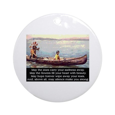THE WISDOM OF SILENCE Ornament (Round)