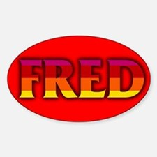 FRED Thompson Oval Decal
