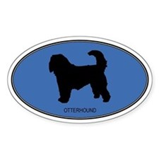 Otterhound (oval-blue) Oval Decal