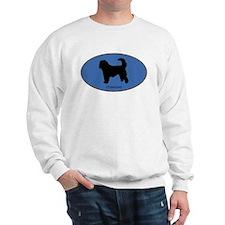 Otterhound (oval-blue) Sweatshirt