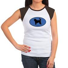 Otterhound (oval-blue) Women's Cap Sleeve T-Shirt