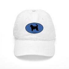 Otterhound (oval-blue) Baseball Cap
