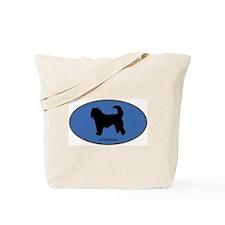 Otterhound (oval-blue) Tote Bag