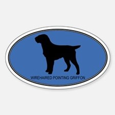 Wirehaired Pointing Griffon ( Oval Decal