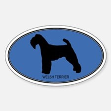 Welsh Terrier (oval-blue) Oval Decal