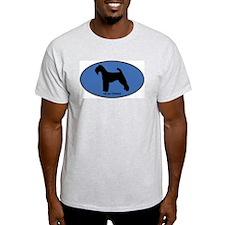 Welsh Terrier (oval-blue) T-Shirt