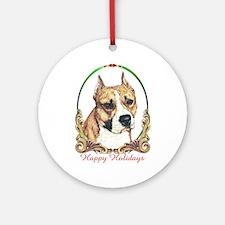 Am Staffordshire Terrier Round Ornament